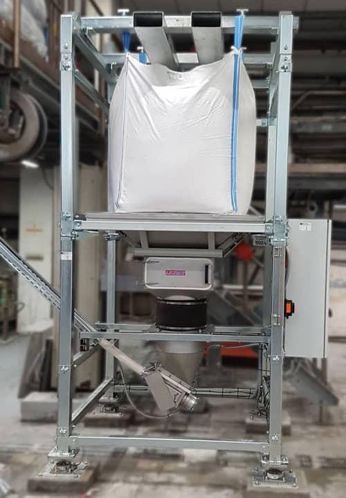 Load cells on bulk bag unloader