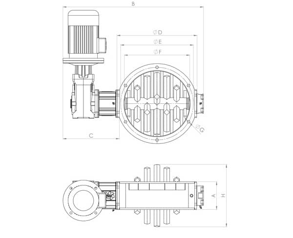 Round lump breaker drawing and dimensions