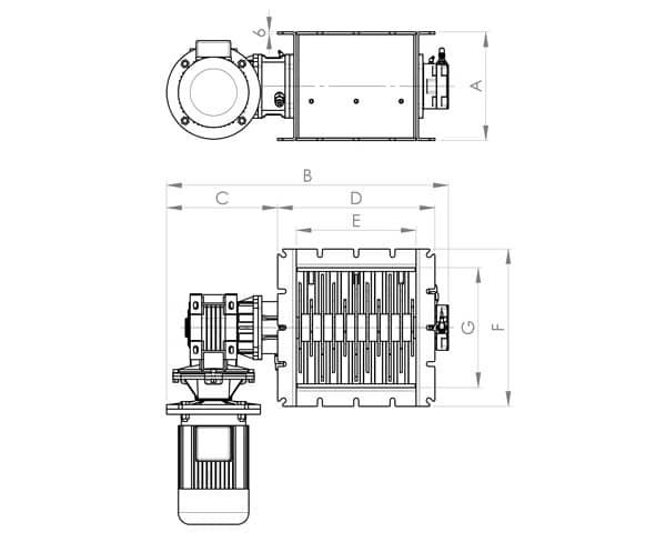 Lump breaker dimensions