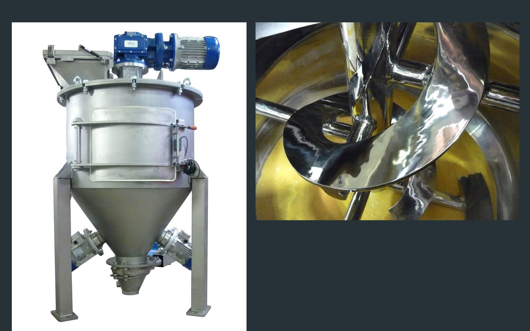 Vertical ribbon mixer